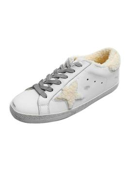 'vanessa' Star Distressed Sneakers With Fleece Lining by Goodnight Macaroon