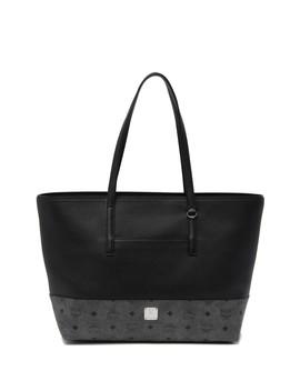 Wilder Visetos Leather Shopper by Mcm