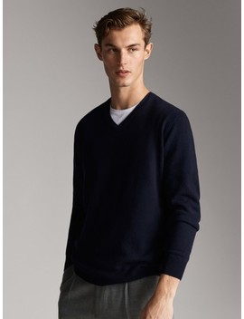 Cashmere And Wool Sweater by Massimo Dutti