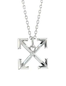 Silvertone Arrows Necklace by Off White