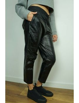 New H&M Alexander Wang Pants Leather Jogging Trousers Us 4 6 8 10 12 34 36 38 40 by Ebay Seller