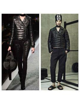 Alexander Wang X H&M Leather Puffer Jacket Biker Rock Moto Xs 32 34 Us 2 4 Black by Ebay Seller