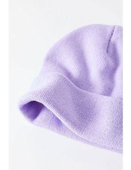 Tuque En Tricot De Jersey Lila Uo by Voir Plus De Urban Outfitters