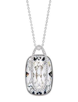 Rhodium Plated Swarovski Crystal Holding Pendant Necklace by Swarovski