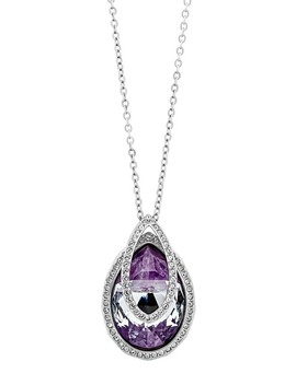 Rhodium Plated Swarovski Crystal Dew Florette Pendant Necklace by Swarovski