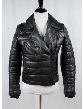 Alexander Wang X H&M Hm Black Leather Quilted Moto Biker Jacket Size 2 by Ebay Seller