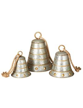 13.25 In. Assorted Galvanized Metal Bells (Set Of 3) by Home Depot