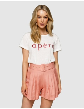 Apéro Embroidered Femme Tee by Apero Label