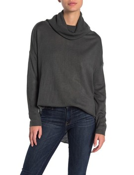 Cowl Neck Long Sleeve Sweater (Regular & Petite) by Susina