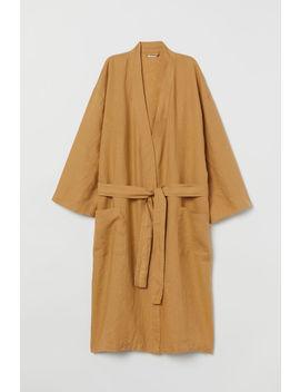 Домашен халат от пран лен by H&M