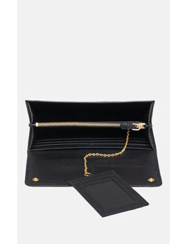 Leather Continental Wallet by Prada