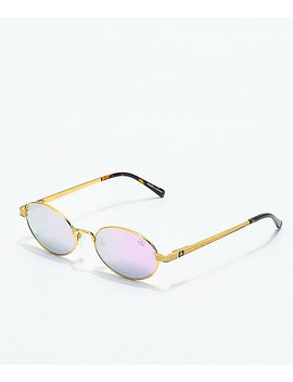 The Gold Gods The Ares Gold &Amp; Lavender Gradient Sunglasses by The Gold Gods