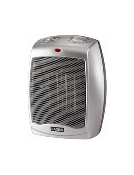 Lasko Electric Ceramic Heater, 1500 W, Silver, 754200 by Lasko