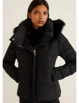 Detachable Hood Feather Down Coat by Mango