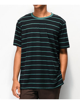 Matix Gordie Black & Green Stripe T Shirt by Matix
