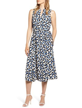 Filigree Print Midi Dress by Anne Klein