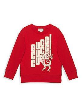 Little Boy's & Boy's Long Sleeve Sweatshirt by Gucci