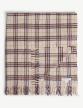 Check Cashmere Blanket by Burberry