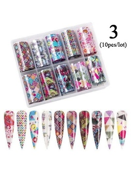 Dazzle Color Shell Print Nail Transfer Stickers 9 Style by Wish