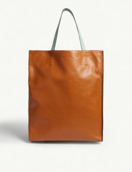 Museo Large Leather Tote by Marni