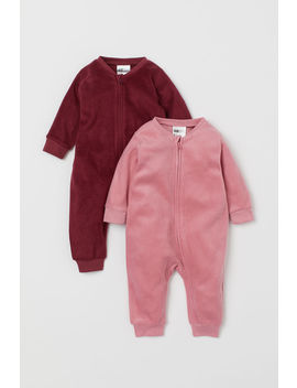 2 Pack Fleece Pyjamas by H&M