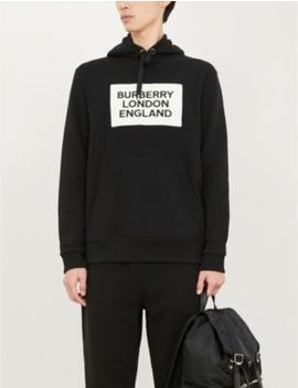 Logo Print Cotton Jersey Hoody by Burberry