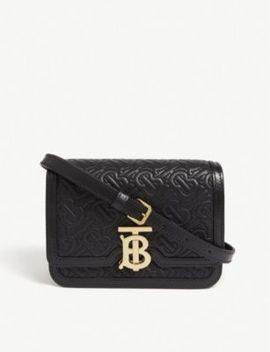 Tb Quilted Leather Shoulder Bag by Burberry
