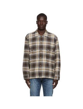 Brown Twill Plaid Smokey Shirt by South2 West8