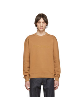 Tan Embroidered Logo Sweatshirt by Jw Anderson