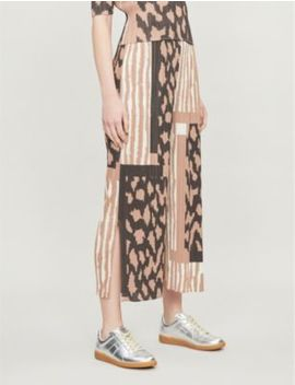 Cropped High Rise Pleated Trousers by Pleats Please Issey Miyake
