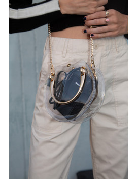 Clear Circle Purse by Brandy Melville