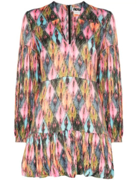 Harlequin Pattern Pouf Mini Dress by Rotate