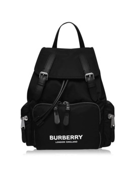 Medium Rucksack In Technical Nylon And Leather by Burberry