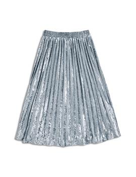 Pleated Crushed Velvet Midi Skirt by Modcloth