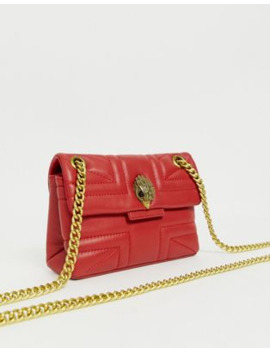 Kurt Geiger Red Mini Kensington Cross Body Bag by Kurt Geiger London
