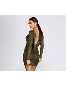 Dazzle Diva Glitter Open Back Dress by Windsor