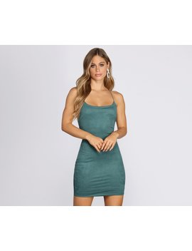 So Into You Faux Suede Mini Dress by Windsor