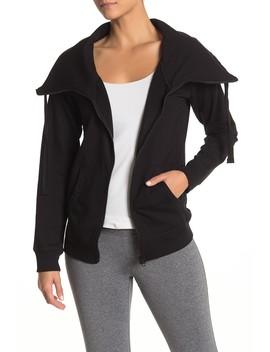 Full Effect Fleece Zip Up Jacket by Z By Zella
