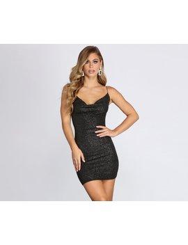 Dancing Diva Glitter Knit Mini Dress by Windsor