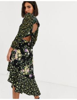 For Love & Lemons Midi Dress With Drawstring Split by For Love & Lemons'