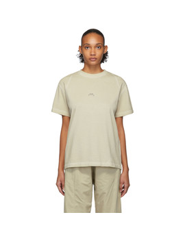 T Shirt Taupe Core Flat Overlock by A Cold Wall*