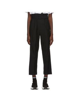 Black Belted Trousers by Mm6 Maison Margiela