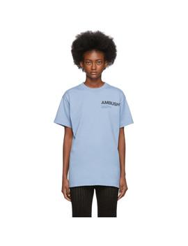 T Shirt à Logo Bleu Exclusif à Ssense by Ambush