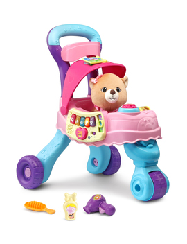 V Tech Cutie Paws Puppy Stroller With Plush Puppy And Accessories by V Tech