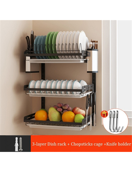 Kadell Dish Drying Rack Over Sink Display Stand Drainer Kitchen Supplies Shelf Holder by Kadell