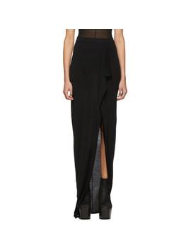 Black Soft Grace Skirt by Rick Owens