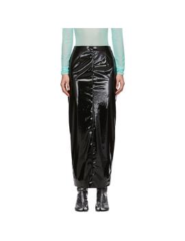 Black Vinyl Skirt by Maison Margiela