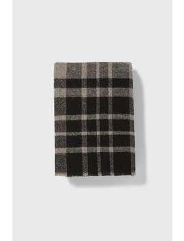 Textured Plaid Scarf by Zara
