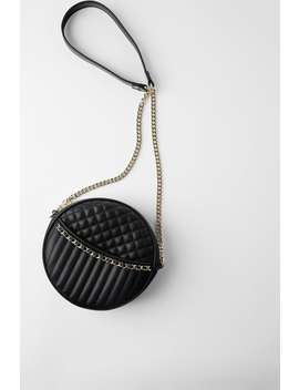 Quilted Round Crossbody Bag by Zara