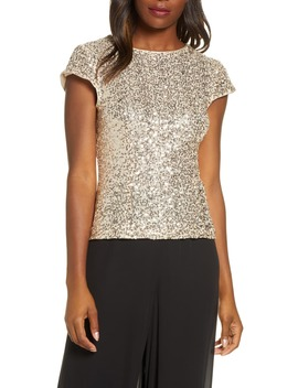 Fitted Sequin Tee by Eliza J